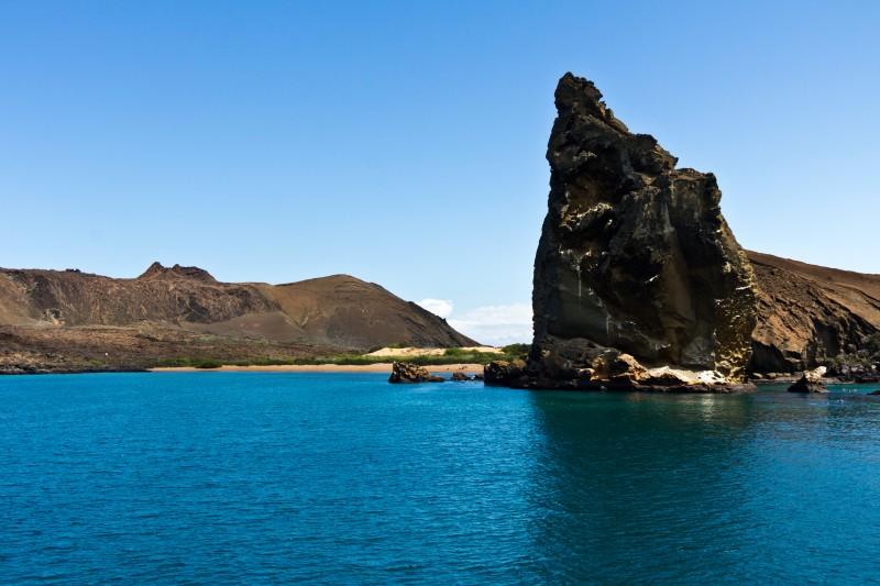 Pinnacle Rock, Isla Bartolomé, Galapagos Islands, Ecuador.