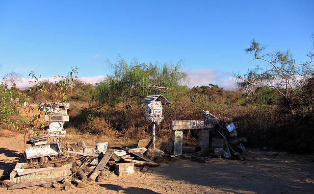 Post office bay, galapagos islands