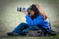 Carol photographing Pow-Wow