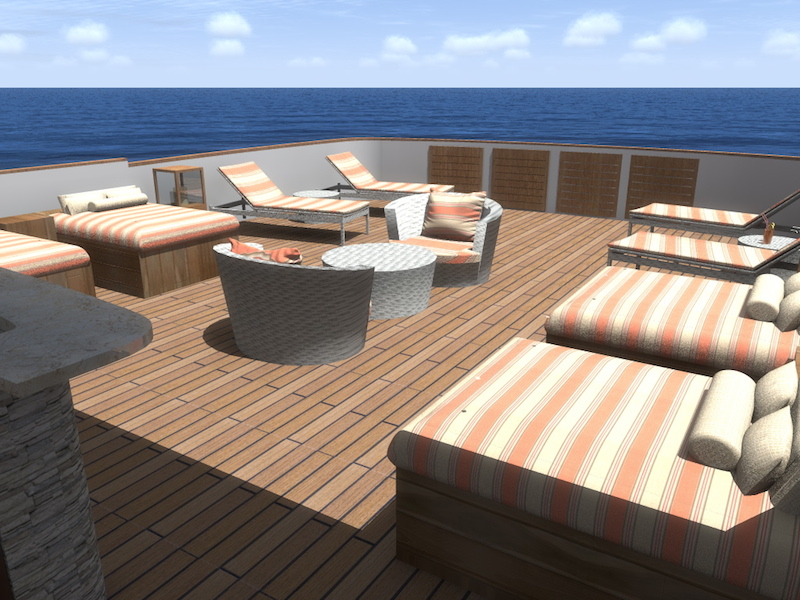 MV Origin outside lounge area