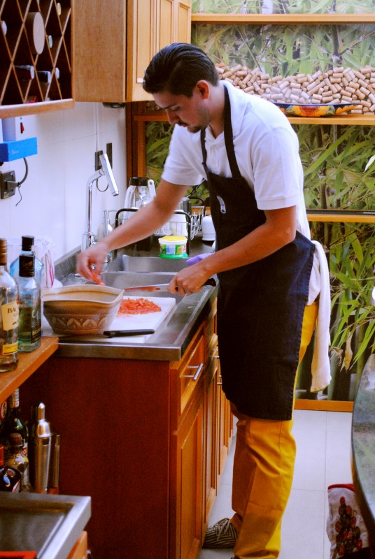 Chef Andres Torres with Ecoventura